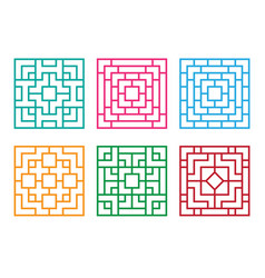 Chinese ornament for window and floor vector