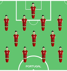 Computer game portugal football club player vector