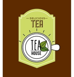 delicious tea design vector image