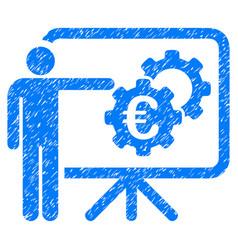 Euro industrial project presentation grunge icon vector