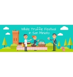 Festival of truffle festival in san miniato banner vector