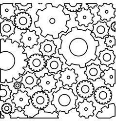 Figure gears bacground icon vector