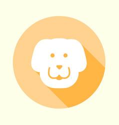 flat pastel orange dog icon vector image