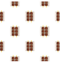 meat shashlik pattern seamless vector image vector image