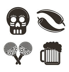 Mexican icons vector