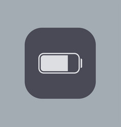 Modern battery icon on gray background vector