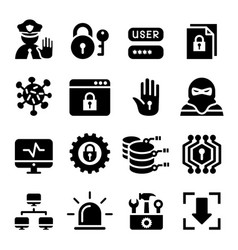 network computer data and internet security vector image