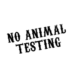 No animal testing rubber stamp vector