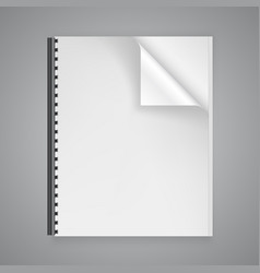 open the paper journal vector image vector image