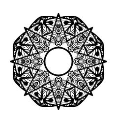 Ornamental star round ornament ethnic mandala vector