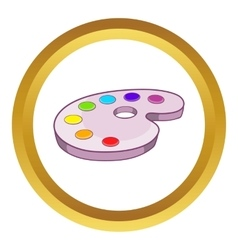 Palette of colors icon vector