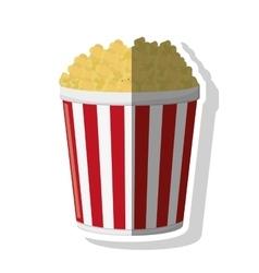 Pop corn of fair food design vector