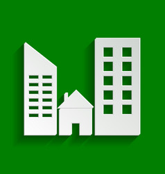 Real estate sign paper whitish icon with vector