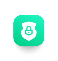 Security shield icon vector