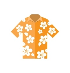 Shirt hawaiian flowers vector