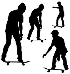 Skateboard Silhouette vector image vector image