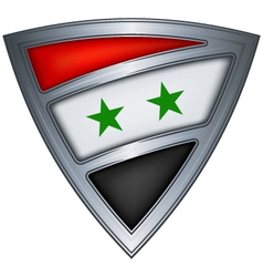 steel shield with flag syria vector image vector image