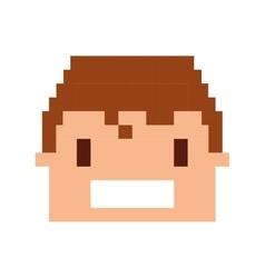 Super hero pixelated icon vector