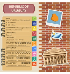 Uruguay infographics statistical data sights vector