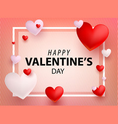 valentines design card flat vector image vector image