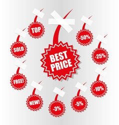 Shopping sales tag vector