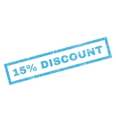 15 percent discount rubber stamp vector