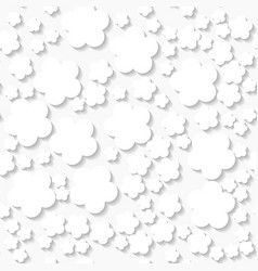 Seamless white origami pattern with flowers vector