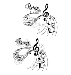 Abstract musical designs vector