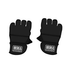 Black martial arts gloves vector