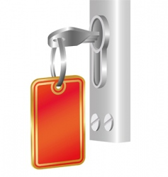 key in the door vector image