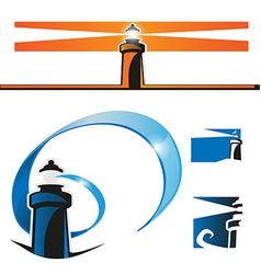 Lighthouse symbol set vector