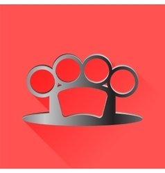 Metal knuckle vector