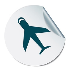 Airplane symbol icon of air travel vector