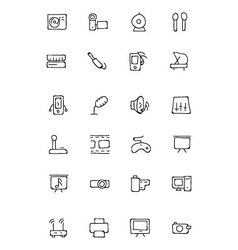 Music hand drawn doodle icons 4 vector