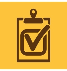 The checklist icon Clipboard and executed task vector image