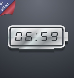 alarm clock icon symbol 3D style Trendy modern vector image