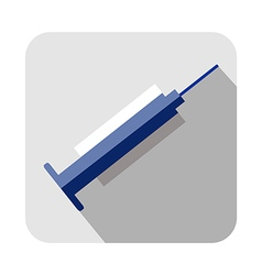 Square icon of medical syringe vector