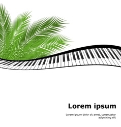 Palm branch template vector
