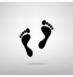 Foot prints sign vector