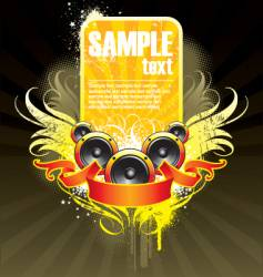 Musical theme with loudspeaker vector