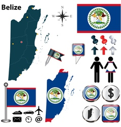 Belize map vector image