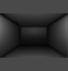 Black simple empty room interior box for design vector