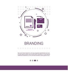 Branding project development startup banner with vector