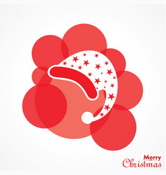 christmas greeting with symbols vector image