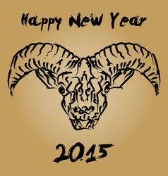 Cninese new year 2015 wooden goat vector image