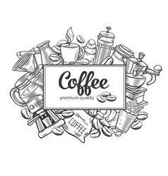 Coffee page design vector