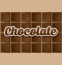Dark chocolate type vector