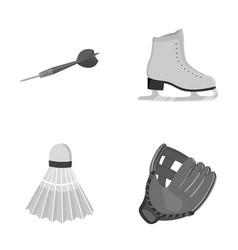 Darts darts white skate skates badminton vector