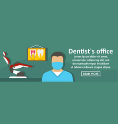 dentist office banner horizontal concept vector image vector image