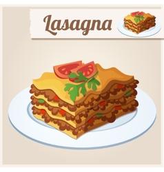 Detailed icon lasagna vector